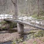 趣のある橋を渡る