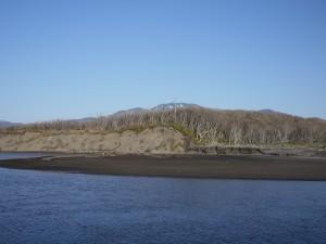 峰浜あたり。よーく見ると、たぶんオジロワシ。