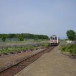 列車が斜里方面へ