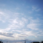 台風とは全く関係のない雲