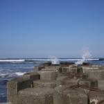 流氷の来る前の防波堤