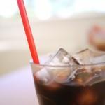 アイスコーヒーの写真(汗