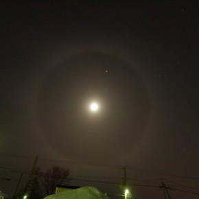 月暈と木星