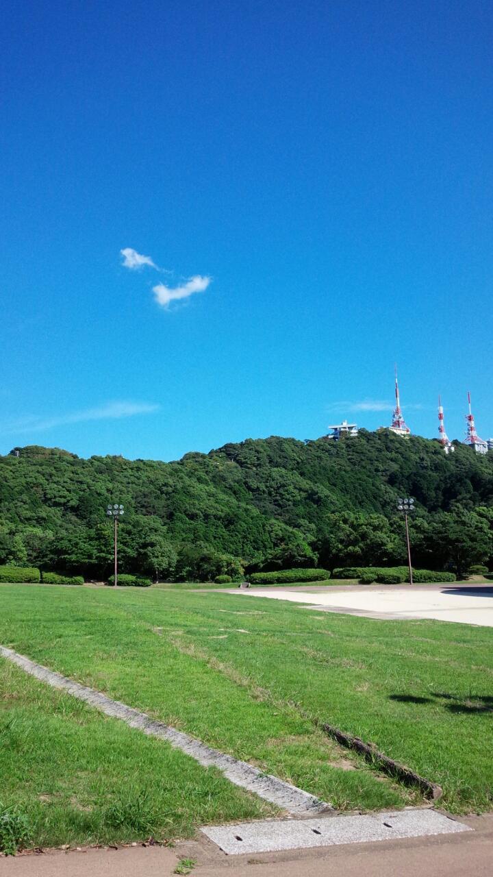 稲佐山で見た縁起の良さそうなちぎれ雲
